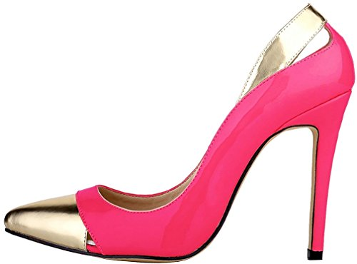 Calaier Damen Schlüpfen 11CM Carainy Pumps Schuhe Stiletto rrxvUwq