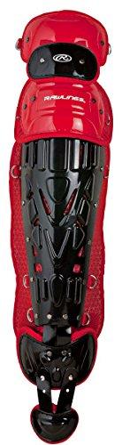 "Rawlings Sporting Goods Catchers Velo Series Intermediate Leg Guards, 15.5"", Black/Graphite 15.5"" LGVELI"