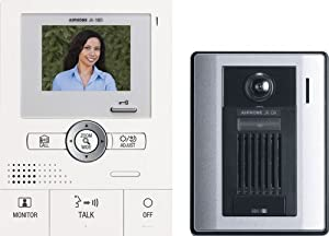 Aiphone JKS-1AD Audio/Video Single-Door Intercom Set, Includes Master Station with Power Supply and Surface-Mount Door Station by AIPHONE COMMUNICATIONS