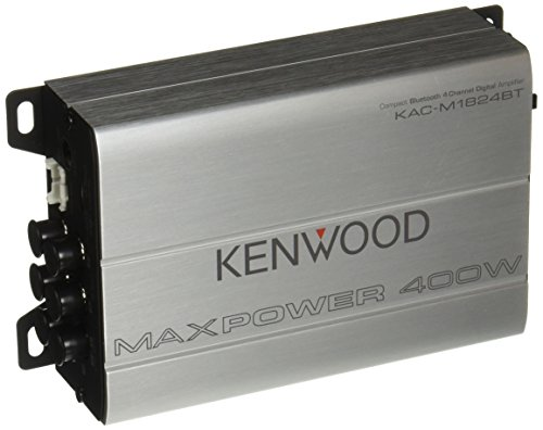 Kenwood 1177524 Compact Automotive/Marine Amplifier Class D Kac-M1824BT, 180W RMS, 400W PMPO, 4 Channel