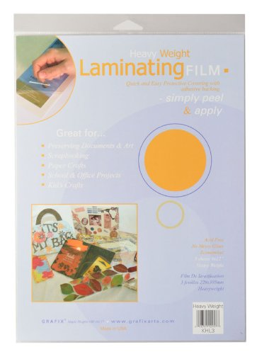Grafix 9-Inch-by-12-Inch Heavy Weight Laminating Film, 3-Pack