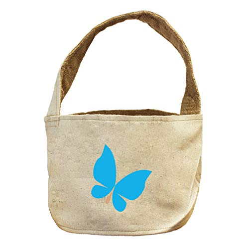 Butterfly Blue Animals Style 2 Canvas and Burlap Storage Basket by Style in Print