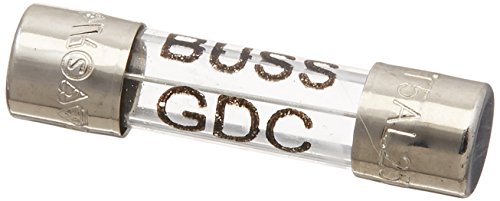 Bussmann BP/GDC-5A vidrio de 5Amp Retardo De Tiempo, baja capacidad de ruptura cartucho 250V cardada UL reconocido,...