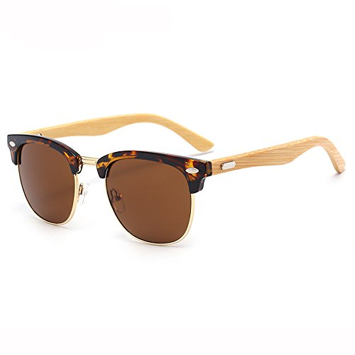 conducen UV Grain de de Black de Leopard Gafas Anti Gafas Bamboo Neutral SSSX los Glasses Leg hombres GYYTYJ sol Polarizer que Color sol Ultra Retro Leopard grain qHpw8I