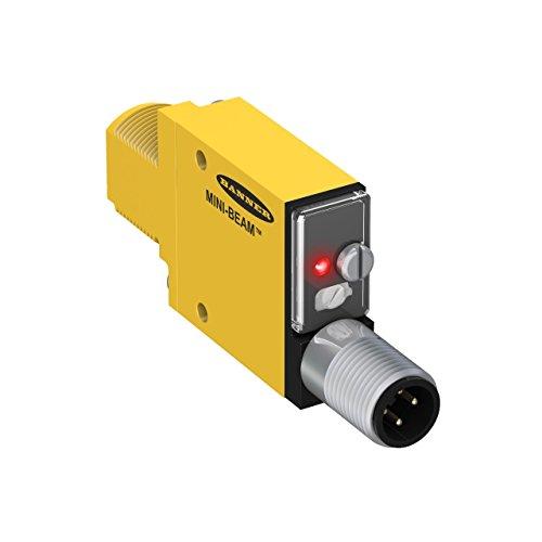 Banner SM312DQD Mini Beam DC Photoelectric Sensor, Diffuse Mode, 4-Pin European QD Termination, 380mm Sensing Range (Mini Beam Photoelectric Sensor)