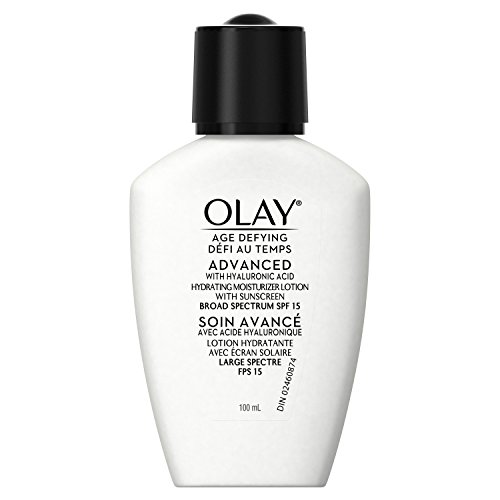Olay Age Defying ADVANCED with Hyaluronic Acid Hydrating Moisturizer with SPF 15, 3.4 fl (Oil Of Olay Spf 15 Moisturizer)