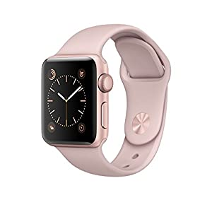 Apple Watch Series 2, 38mm Rose Gold Aluminum Case with Pink Sand Sport Band