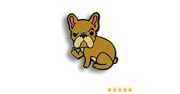 Fawn Dog Show Ring Number Clip Pin Breed French Bulldog Frenchie