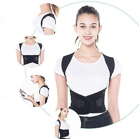Fixget Posture Corrector para Mulheres e Homens Ajust/ável Na Parte Superior Das Costas Postura Corrector Brace Postura Terap/êutica Da Parte Superior do Corpo Preparem(M) Correcci/ón de Postura
