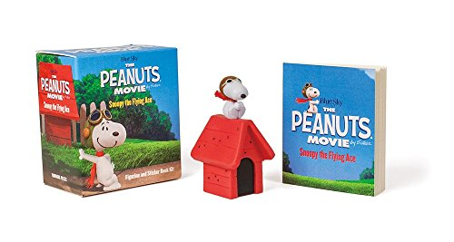 The Peanuts Movie: Snoopy the Flying Ace: Figurine and Sticker Book Kit (Miniature -