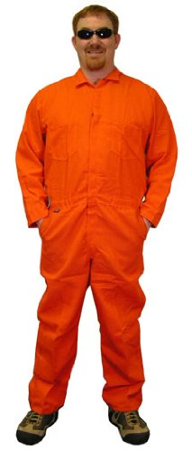 Indura Flame Resistant Coverall (9 Oz.) Size 5XL orange Color - Indura Flame Resistant Coverall