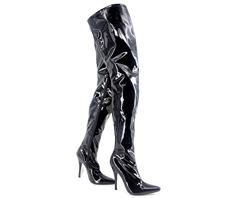 Wonderheel stiletto high heel Lack over-knee stiefel crotch boots