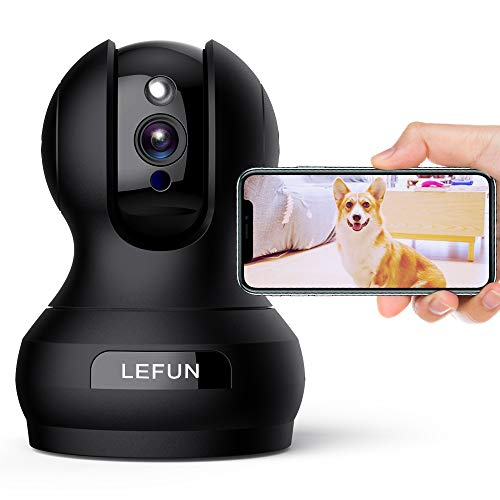 Wireless Security Camera 1080P WiFi Dog Pet Camera with 2 Way Audio Motion Detection Night Vision, Lefun IP Pan/Tilt/Zoom Home Surveillance Camera Cloud Cam Baby Monitor