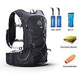 POJNGSN Outdoor Lightweight Hydration Backpack Rucksack Bag Free 2L Water Bladder for Hiking Camping Running Race Set-C