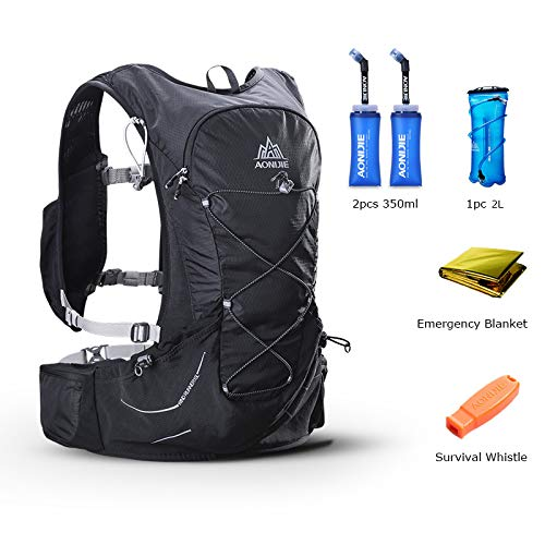 POJNGSN Outdoor Lightweight Hydration Backpack Rucksack Bag Free 2L Water Bladder for Hiking Camping Running Race Set-C by POJNGSN (Image #2)