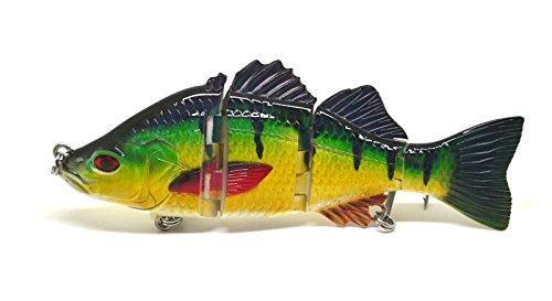 6 inch Largemouth Bass Pike Muskie Striper Lure Fishing Bait Life-like Green Perch