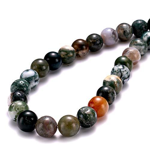 BEADIA Natural India Agate Stone Round Loose Semi Gemstone Beads for Jewelry Making 4MM 89PCS