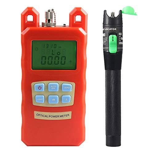 Prettyia Pack Portable Optical Fiber Power Meter Tester Measure -70dBm~+10dBm + 20mW 15KM Visual Fault Locator Fiber Tester Detector Meter Pen by Prettyia (Image #3)