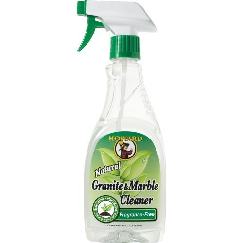 Howard Products - GM0012 Natural Granite and Marble Cleaner, Trigger Spray, (16 Ounce) (4-Pack) ()