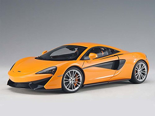 McLaren 570S McLaren Orange with Silver Wheels 1/18 Model Car by Autoart 76044