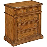 Home Styles 5004-41 Four Drawer Americana Chest, Distressed Oak