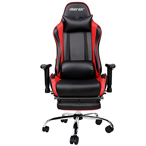 41Nb7H9mz9L - Merax-Ergonomic-Racing-Gaming-Chair-with-Adjustable-Armrests-High-Back-PU-Leather-Chair-with-Footrest-Home-Office-Chair-red