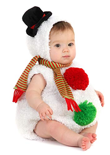 Princess Paradise Baby Snowman, White, 6 to 12 Months