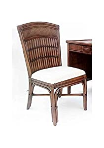 Good Rattan U0026 Bamboo Desk Chair In Antique Finish (Champange)