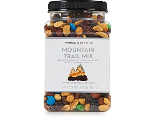 Prince & Spring - Mountain Trail Mix - 28 oz - (Peanuts, Raisins, M&M milk chocolate candies, Almonds & Cashews) ()