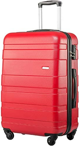 Merax Hard Shell Carry On Cabin Hand Luggage Suitcase with 4 Wheels Approved for Ryanair, easyJet, British Airways…