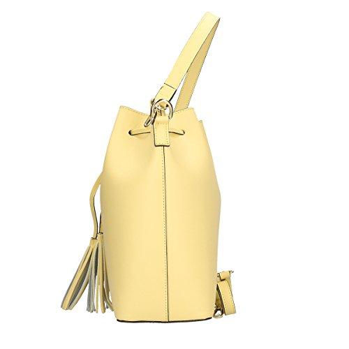 Chicca Borse Bolsa en Piel genuina 32x30x13 Cm amarillo