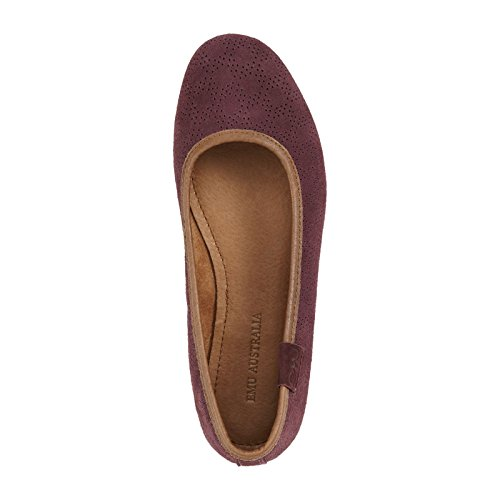 Ballet Mauve Flats Emu Purple Women's Springvale Suede Leather fXRIqw