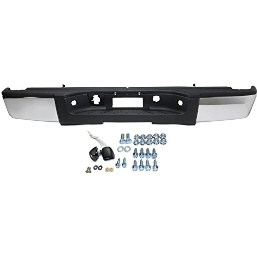 (Rear Step Bumper for Chevrolet Silverado/Sierra 1500 2007-2013 Assembly Chrome Steel Fleetside)