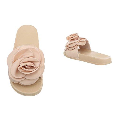 Sandales 830 Ital Beige Plat Femme Chaussures Mules design PvzqOv