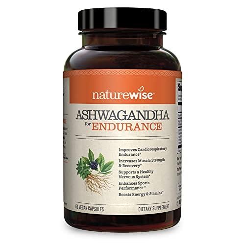 NatureWise Ashwagandha for Endurance, Adaptogen Adrenal Support Supplement with Organic KSM-66 Ashwagandha, Vitamins…