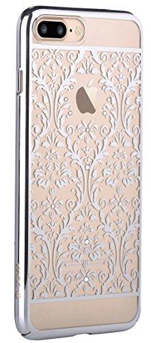 iPhone 7 Plus Case, Devia [Crystal Series] Original Swarovski Element Hard [PC Transparent] Case for iPhone 7 Plus (Silver Baroque)