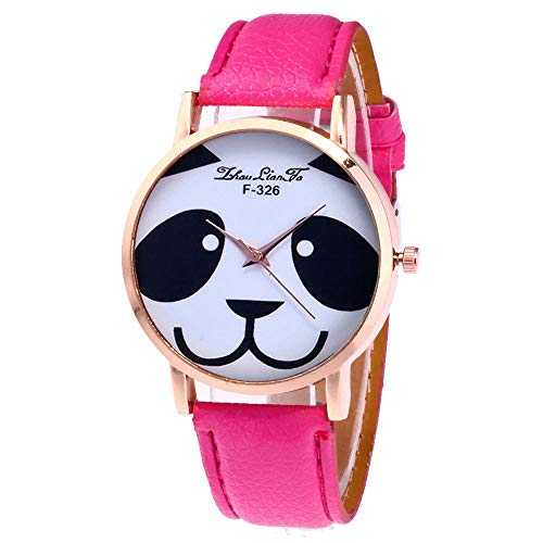 Creazy Women's Fashion Casual Leather Strap Analog Quartz Round Watch (Hot ()