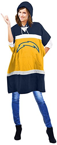 NFL San Diego Chargers Hoodie Poncho, 70.5 x 32-Inch, Gold