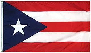 product image for Annin Flagmakers Model 146760 Territory: Puerto Rico Flag 3x5 ft. Nylon SolarGuard Nyl-Glo 100% Made in USA to Official Design Specifications.