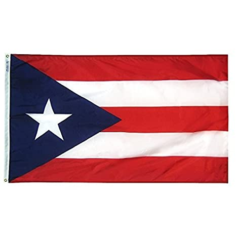 Annin Flagmakers Model 146760 Territory: Puerto Rico Flag 3x5 ft  Nylon  SolarGuard Nyl-Glo 100% Made in USA to Official Design Specifications