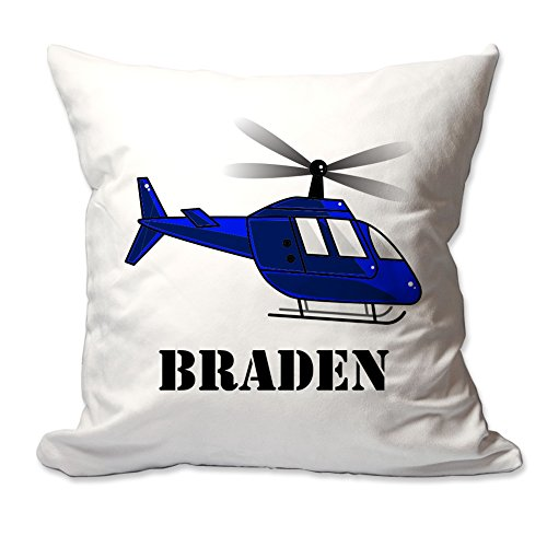 Personalized Helicopter Throw Pillow