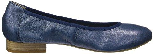 22160 Footwear Women's Metallic Caprice Ocean Ballet Flats Blue aFwvxUqE
