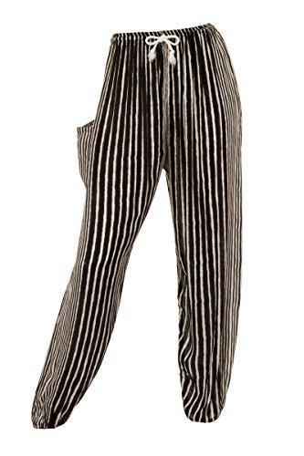 Pantalones harén - Aladdin Hippie Pantalones con cordón en la Cintura Aztec Green Talla única: Amazon.es: Ropa y accesorios