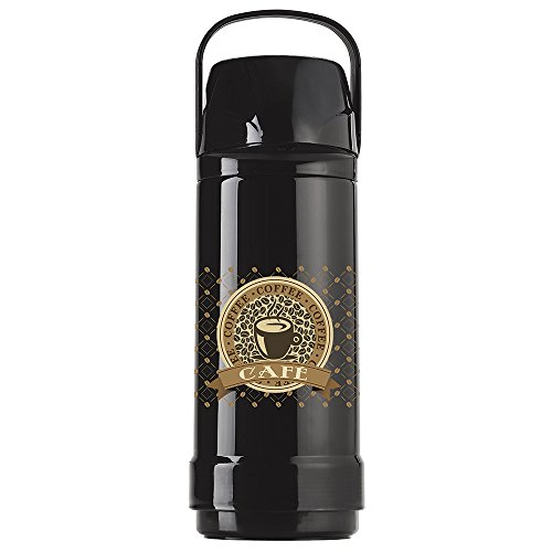 Garrafa Térmica GLT Pressão Coffee, Invicta, Preto, 1L