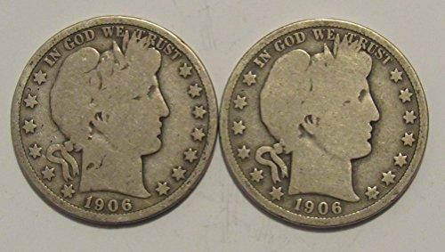 1906 P & D Barber Half Dollar Good