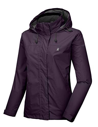 Little Donkey Andy Women's Waterproof Rain Jacket Lightweight Outdoor Windbreaker Rain Coat Shell for Hiking, Travel