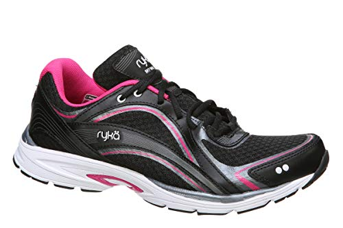 Black Ryka Shoes - RYKA SKY WALK Walking Shoe, Black/Pink, 10 M US