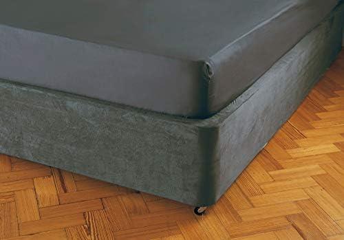 Belledorm Headboard Wrap Transforms a drab looking bed base Luxury Faux Suede Linen, Double