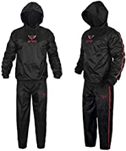 Jayefo Sauna Suit with Hood Full Body Sweat Suit Hot Waist Trainer Waterproof Non Rip Fitness Gym Running Boxi