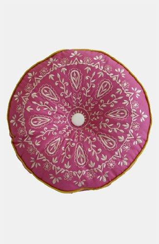 """Dena Home Casablanca Round Decorative Pillow, 14"""", Blossom"""
